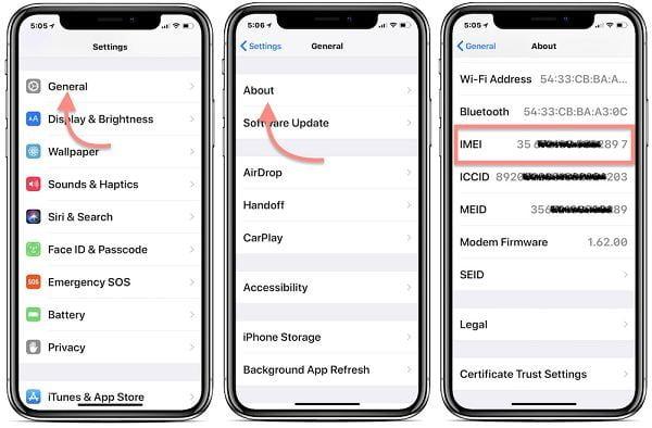 cách kiểm tra imei iphone x tại nhà