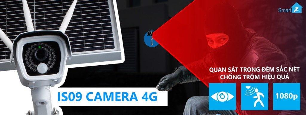 Camera Quan Sát SmartZ Wifi 4G Tích Hợp Năng Lượng Mặt Trời IS09