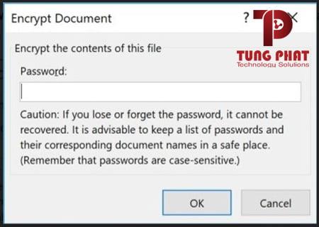 cách đặt mật khẩu excel read only