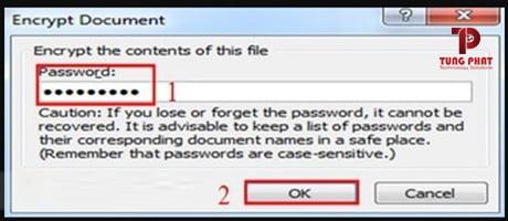 cài mật khẩu file excel