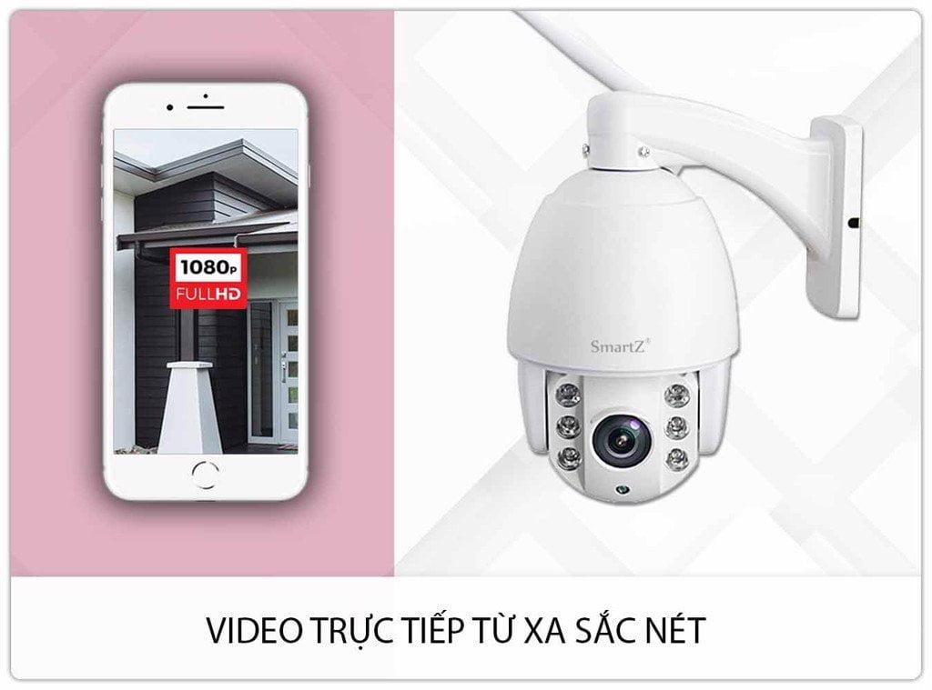 Camera IP HD 1080P Zoom Quang 5X Ngoài Trời SmartZ SCD2029