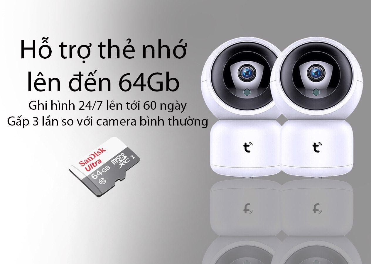 Camera IP Quan Sát F3, Wifi Trong Nhà Full HD 1080P