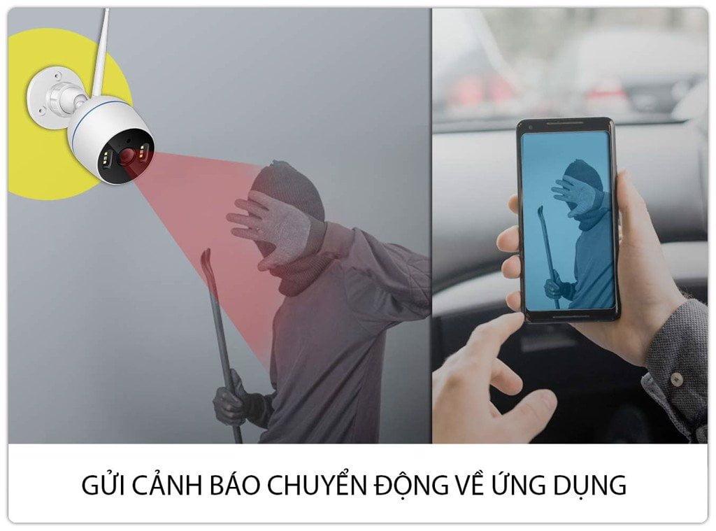 Camera IP Wifi Ngoài Trời Cảnh báo chuyển động
