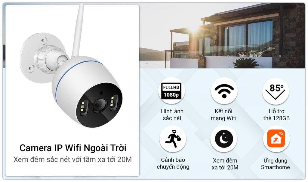 Camera IP Wifi SmartZ FX6 Ngoài Trời, Full HD 1080P