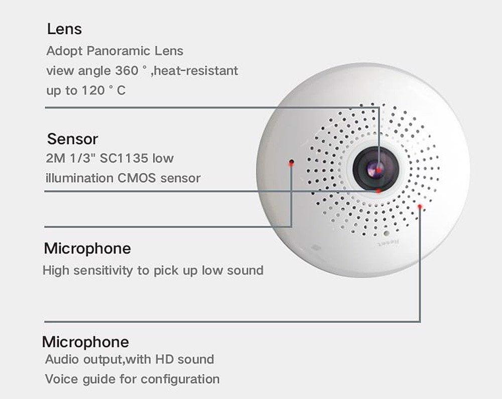 Camera IP Wifi Kiểu Dáng Bóng Đèn SmartZ SCR3605.V2