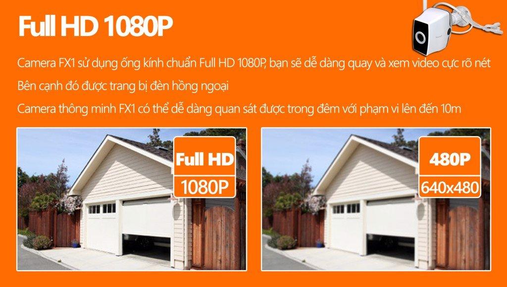 FX5 -CAMERA IP NGOÀI TRỜI FULL HD 1080P, WIFI, KIỂU DÁNG HIỆN ĐẠI