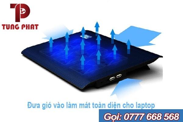 Đế laptop L112 6 Fan