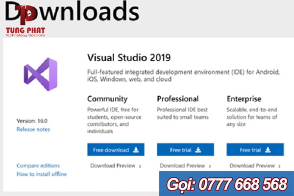 download visual studio 2019