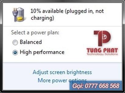 sửa lỗi plugged in not charging