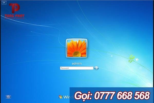 Giao diện mật khẩu Windows 7