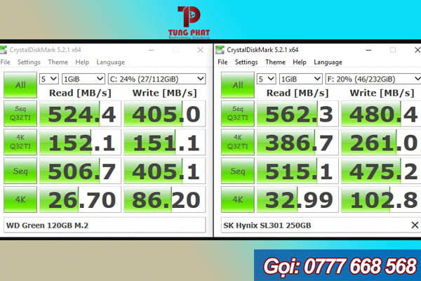 review ổ cứng ssd wd green 120gb