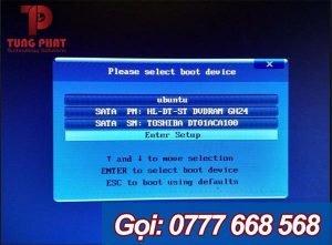 sửa lỗi Reboot and Select proper Boot Device