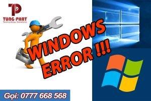 xử lý lỗi windows 7