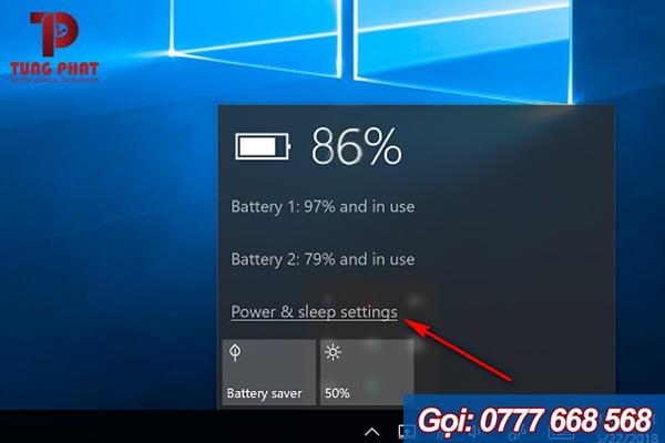 Cách 1: Vào Power & sleep để tắt màn hình laptop mà máy vẫn chạy trên windows 10