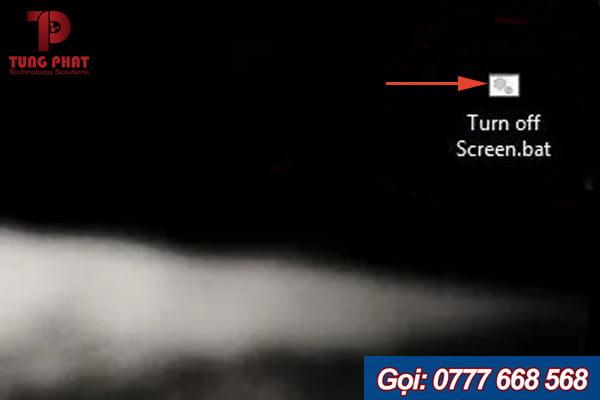 Sử dụng Script Turn Off Screen được xem là cách đơn giản để tắt màn hình laptop