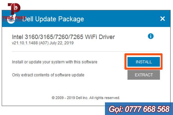 Cài đặt driver wifi cho laptop Dell