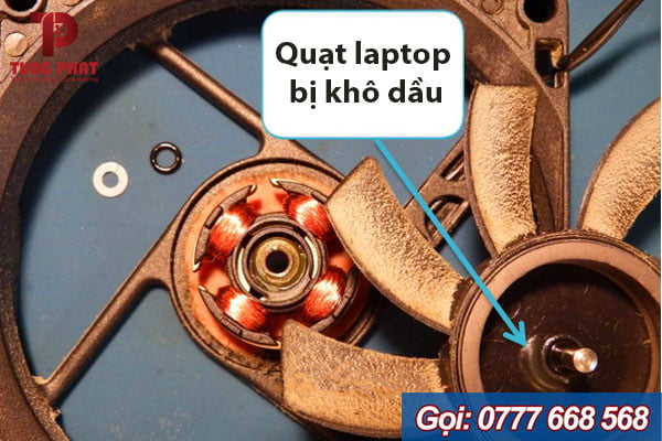 Quạt laptop bị khô dầu
