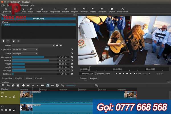 Shotcut - phần mềm chỉnh sửa video miễn phí