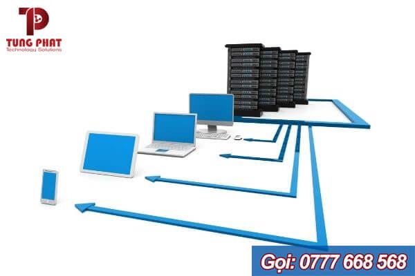 mô hình mạng máy tính cty có máy chủ phân tầng