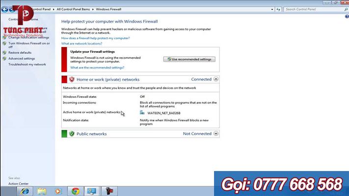 Cấu hình Firewall trên Windows 7