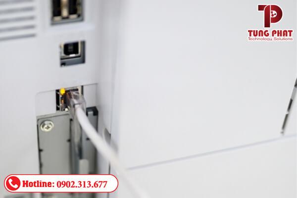 Kết nối máy in với laptop thông qua mạng Lan