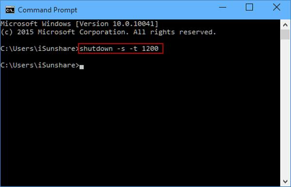 hẹn giờ tắt máy tính bằng công cụng CMD